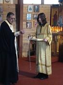 Bp. NIKON attended the Liturgy.